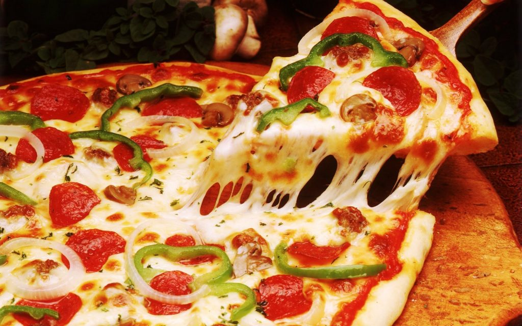 Pizza is special item offered at Porch At Schenley
